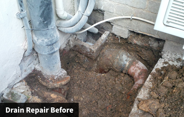 Drain Repair Before