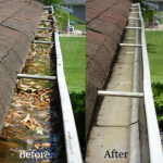 Guttering before and after